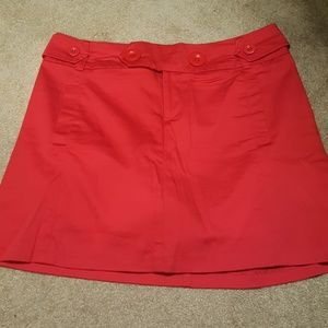 Cherry red skort or skirt with shorts